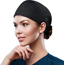 Icegrey Unisex Unisex Surgical Caps Scrub Caps Surgical Solid Color Cap,Doctor Nurse Cap with Sweat Band,Dark green,One Size