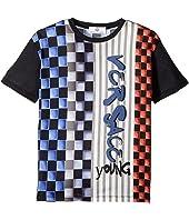 Versace Kids - Short Sleeve Race Track Graphic Logo T-Shirt (Big Kids)