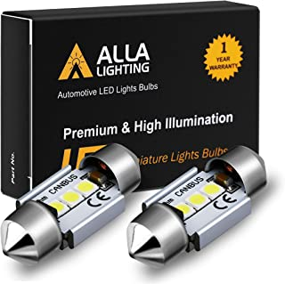 Alla Lighting DE3022 DE3175 LED Bulb Xtremely Super Bright 31mm CAN-BUS Festoon DE3021 3175 6428 3030 SMD Cars Trucks LED Interior Dome Map Trunk Step Courtesy Lights, 6000K Xenon White