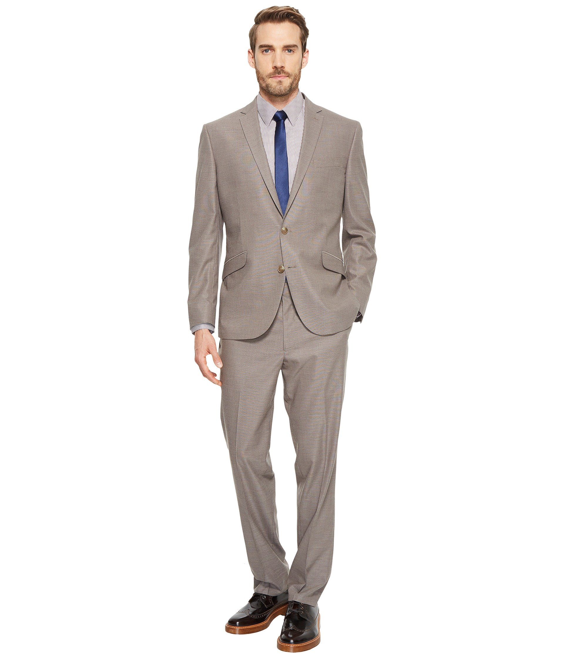 Vestido para Hombre Kenneth Cole Reaction Stretch Slim Fit Textured Pin Dot Suit  + Kenneth Cole Reaction en VeoyCompro.net