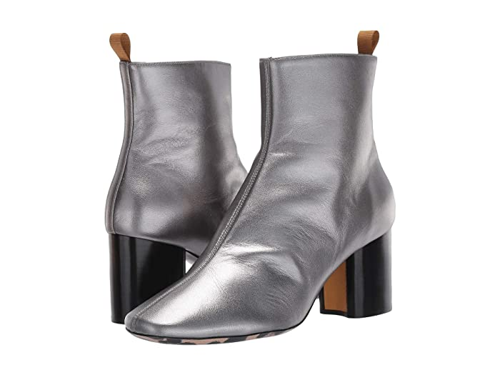 60s Shoes, Boots | 70s Shoes, Platforms, Boots Paul Smith Moss Ankle Bootie Silver Womens Shoes $595.00 AT vintagedancer.com