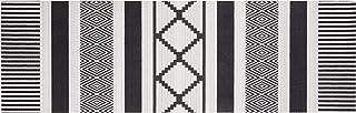 Zala Living Waschbarer Küchenläufer Küchenteppich Teppichläufer Urban 45x140 cm, 100% Polyamid, rutschfest, Fußbodenheizung geeignet, Schwarz