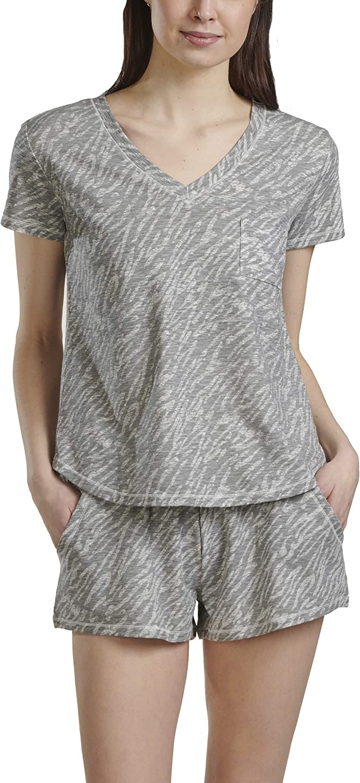 Splendid Cheap super special Max 64% OFF price Women's V-Neck Short Sleeve Pajama Top Shorts Pj Set