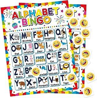 کارتهای بازی Alphabet Bingo ABC Letters Matching یادگیری بازی مجموعه ای برای کودکان 24 بازیکن شناخت حیوانات برای خانواده کودکستان کودکستان مدرسه کلاس درس جشن تولد و وسایل بازی های گروهی