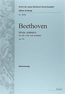 ベートーヴェン: 荘厳ミサ曲 (ミサ・ソレムニス) ニ長調 Op.123/ブライトコップ & ヘルテル社/合唱作品
