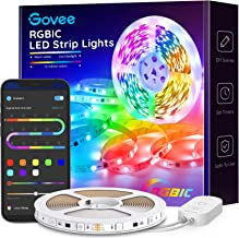Govee LED Strip Lights RGBIC, 16.4FT Bluetooth Color Changing LED Lights, APP Control with Segmented Control Smart Color Picking, Multicolor LED Music Lights for Bedroom, Room, Kitchen, Party