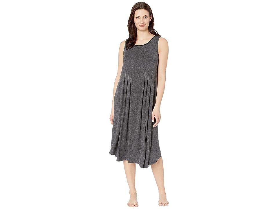Donna Karan Modal Spandex Jersey 44 Gown (Charcoal Heather) Women