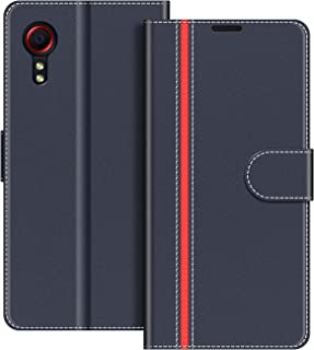 COODIO Coque en Cuir Samsung Galaxy Xcover 5, Étui Téléphone Samsung Xcover 5, Housse Pochette Galaxy Xcover 5 Fonction St...