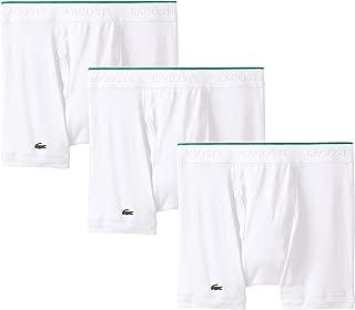 Lacoste Men's 100% Cotton Boxer Brief Underwear, Multipack