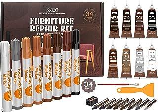 Katzco Total Furniture Repair Kit - Set of 34 - Resin...