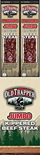 Old Trapper Old Fashioned Kippered Beef Steak | Traditional Style Real Wood Smoked Made from 100% Lean Beef | 2 Ounce (Pack of 12)