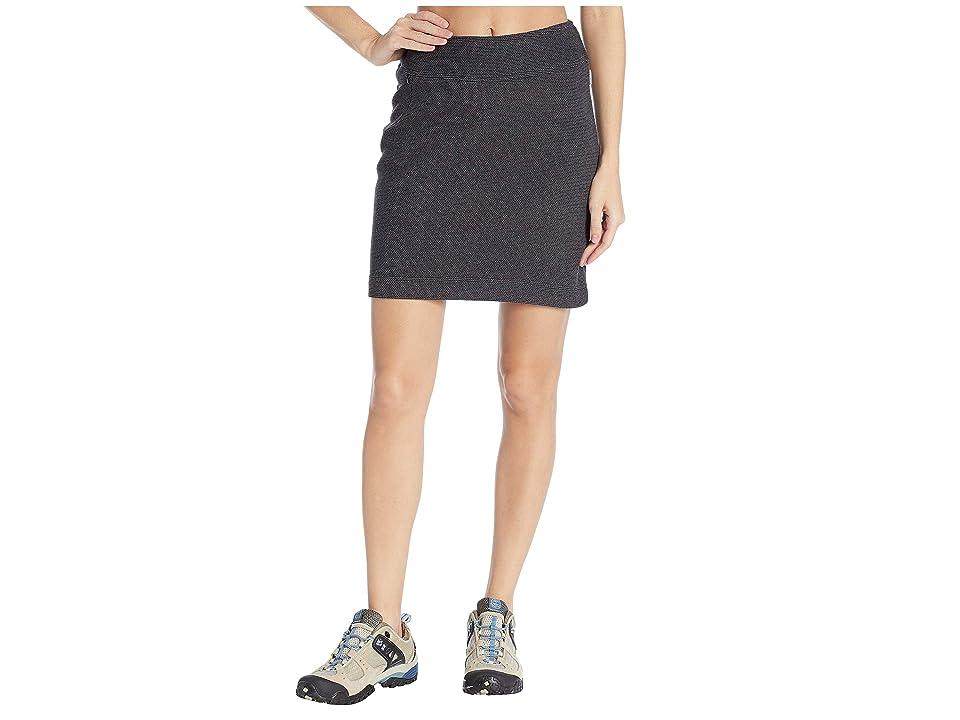 White Sierra Blacktail Fleece Skirt (Black) Women