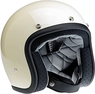 Biltwell Bonanza Half Helmet (Gloss Vintage White, X-Large)