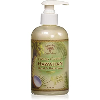 Island Soap & Candle Works Hawaiian Hand and Body Soap, Coconut