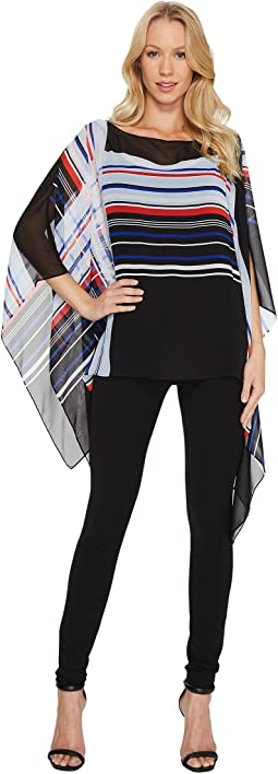 Vince Camuto - Linear Graphic Panel Poncho