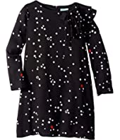 Lanvin Kids - Long Sleeve Polka Dot Dress with Ruffle Detail (Big Kids)