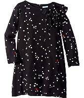 Lanvin Kids - Long Sleeve Polka Dot Dress with Ruffle Detail (Big Kids)