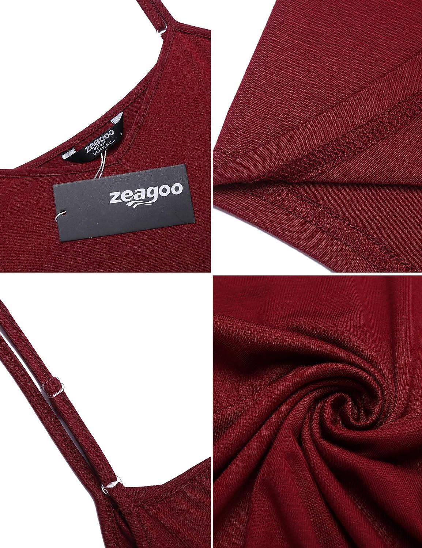 Zeagoo Women's Loose Summer Sleeveless Pleated Flowy Camisole Casual Tank Tops