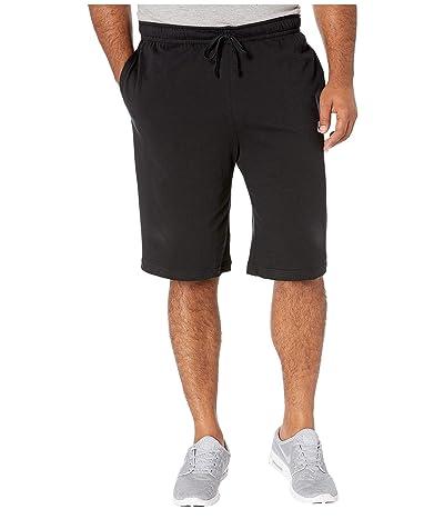 Nike Big Tall NSW Club Jersey Shorts (Black/White) Men