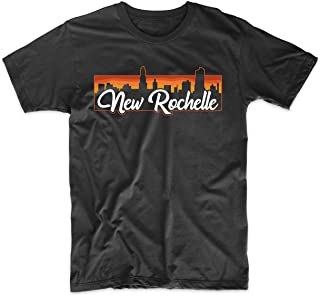 Vintage Style Retro New Rochelle New York Sunset Skyline T-Shirt