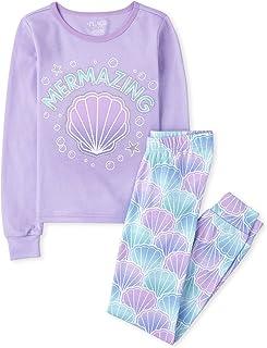 The Children's Place Girls Long Sleeve Mermaid Snug Fit Cotton Pajamas