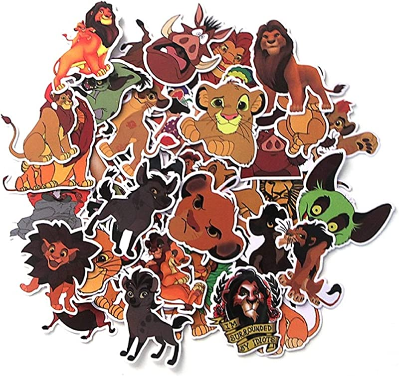 40 Pcs The Lion King Cartoon Stickers PVC Waterproof Stickers For DIY Scrapbooking Luggage Laptop Kids Sticker