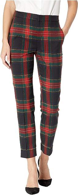 Tartan Skinny Crop Pants