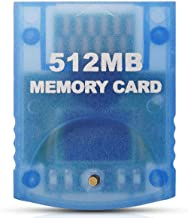 VOYEE Memory Card for Nintendo Gamecube & Wii Consoles, 512MB (8192 Blocks) - Blue