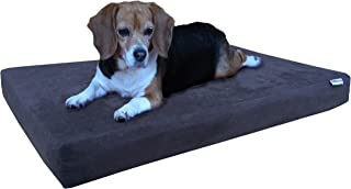 Dogbed4less Memory Foam Dog Bed   Pressure-Relief Orthopedic, Internal Waterproof Case and 2 Washable External Covers   Multiple Sizes, Colors