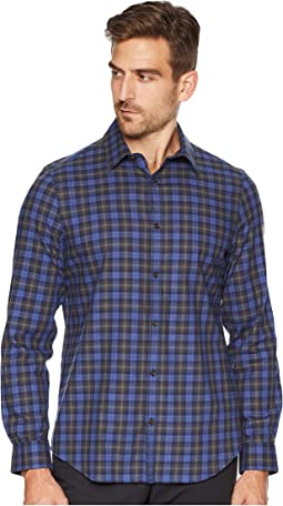Long Sleeve Brushed Workwear Plaid Button Down