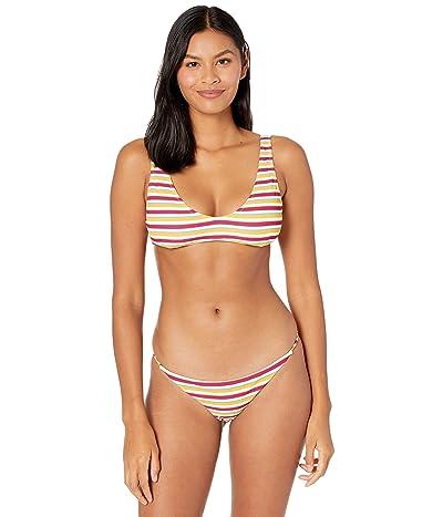 Volcom Stripe While Haute V-Neck Top Women