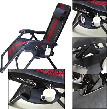 Hanperal Oval Zero Gravity Chair Cup Holder, Clip on Side Recliner Cup Table, Zero Gravity Lounge Chair Cup Holder Tray with