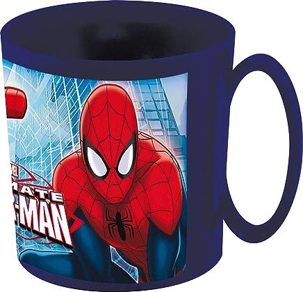 Preisvergleich für Marvel Spiderman Tasse für Mikrowelle, 350 ml, 11 x 8 x 9 cm, Plastik, blau 11x8.3x8.7 cm
