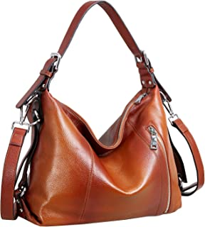 Vintage Leather Handbags for Women and Ladies Casual Shoulder Handbag Tote Top Handle Bag Satchel Purses