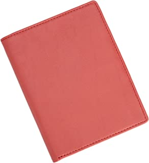 Royce Leather RFID Blocking Bifold Passport Currency Travel Wallet, Red