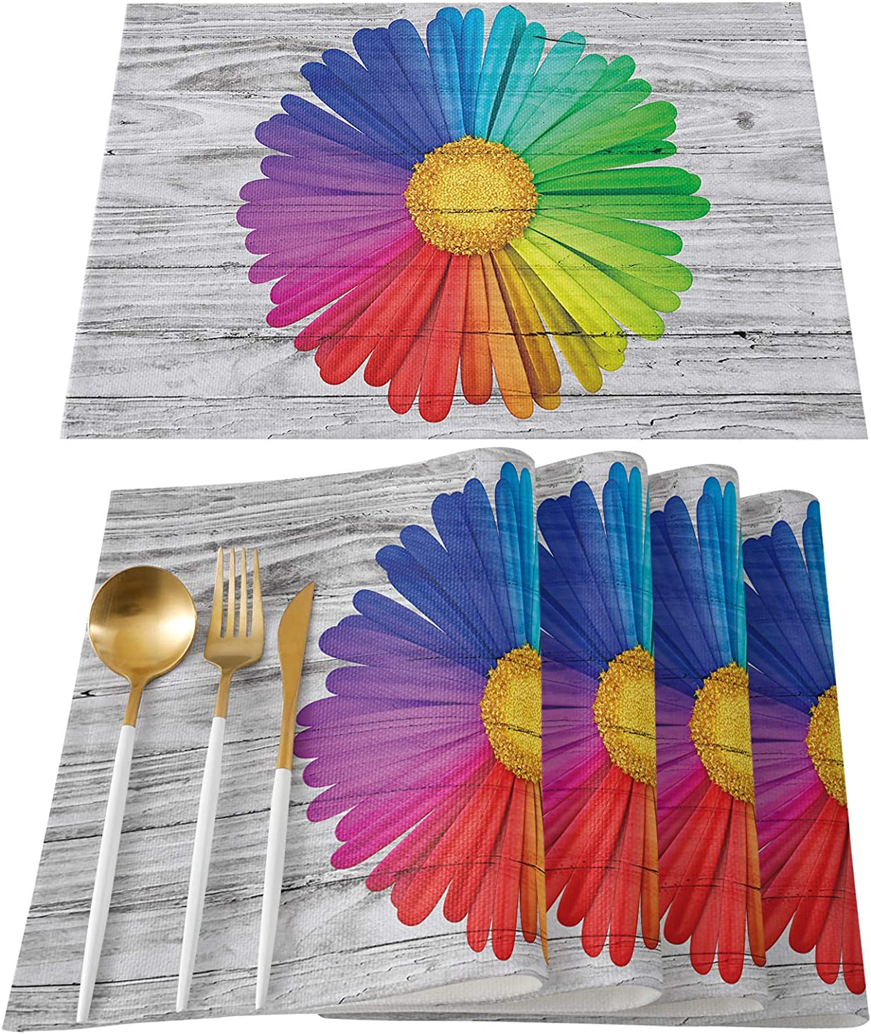 Inexpensive FAMILYDECOR Max 84% OFF Placemats for Kitchen Dining Table Set M Place 6 of