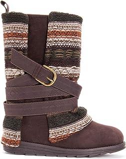Muk Luks Women's Nikki Boots Mid Calf, Medium Brown, 7 M US