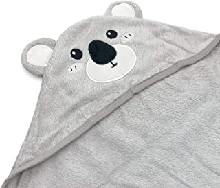 DRT Luxury Super Soft 100% Bamboo Koala Baby Hooded Gift Towel - Absorbent Baby Towels with Hood For Boys and Girls - Baby...