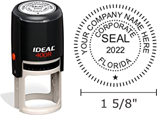 Florida Corporate Seal Stamp, Ideal 400R, Round 1-5/8