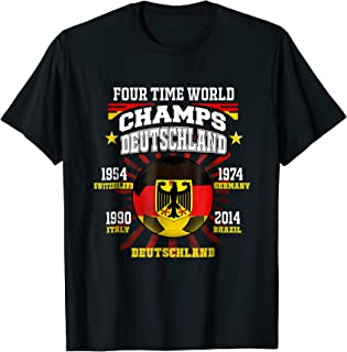 Germany Football T-Shirt with Soccer Championship Years
