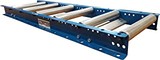 """Gravity Roller Conveyor with 1.5"""" Diameter Galvanized Steel Rollers on 6"""" Roller Centers. 12"""" Wide, 3` Long - Ultimation"""