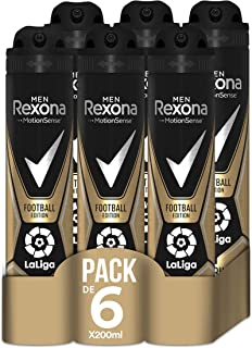 comprar comparacion Rexona Desodorante Antitranspirante Football Edition Laliga 200ml - Pack de 6: 1200ml