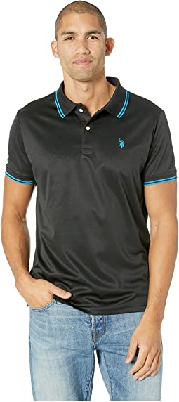 Tipped Poly Polo Shirt