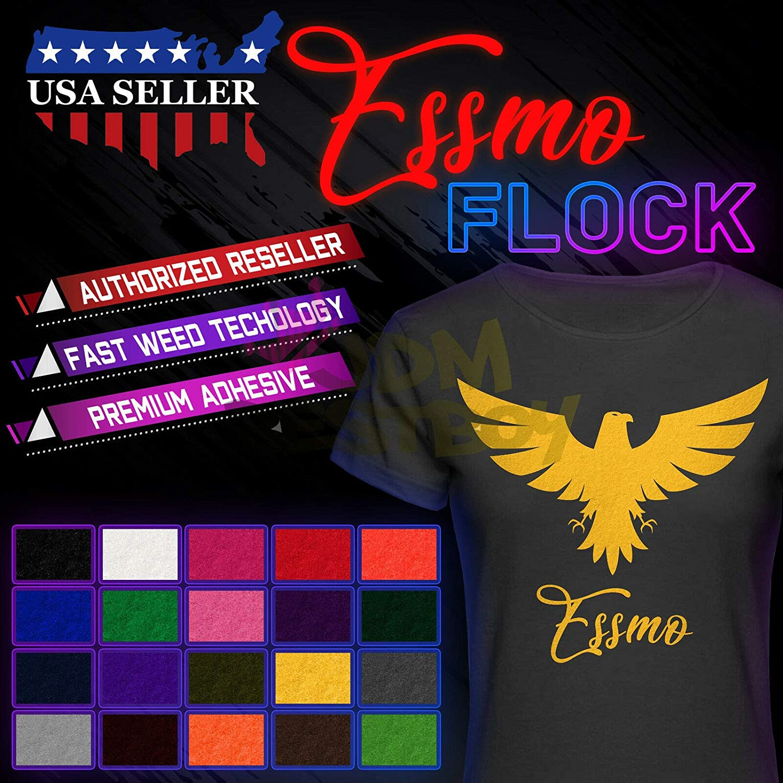 JD-ESSMO Yellow Flock Heat Transfer shipfree T-Shirt HTV 20