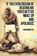 NATVVA Wall Art Painting Muhammad Ali Quotes If You Even Dream of Beating Me Posters Gifts Picture Printed Canvas Artist Home Decor Artwork for Living Room Bed Room Men Wall Decoration No Frame