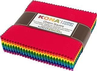 Kona Cotton Solids Bright Charm Square 85 5-inch Squares Charm Pack Robert Kaufman CHS-693-85