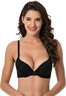 Womens Plus Size Perfect Shape Add 1 Cup Push Up Underwire Tshirt Bra