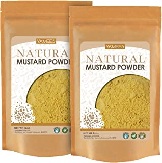 Yamees Mustard Powder - 2 Bags - 28 Oz (14 Oz Each) – 2 POUNDS - BULK Ground Mustard – Mustard Seed Powder - Dry Yellow Mu...
