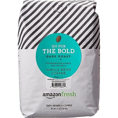 AmazonFresh Dark Roast Whole Bean Coffee, 32 Ounce (Pack of 1)