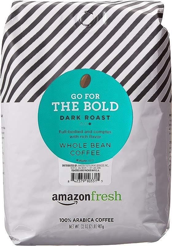 AmazonFresh Dark Roast Whole Bean Coffee 32 Ounce